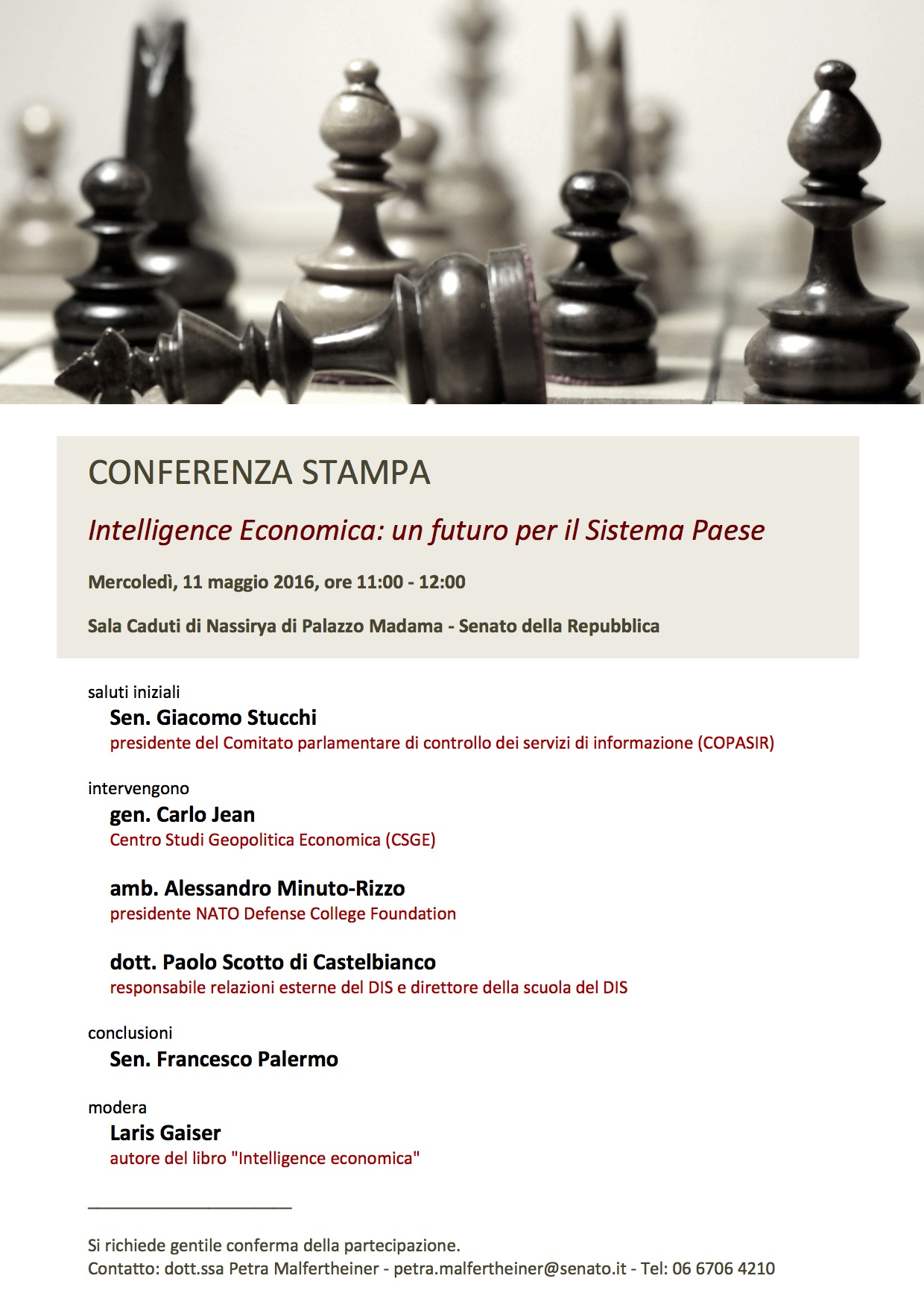 Copia di Conferenza stampa Intelligence Economica 20160511